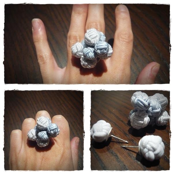 DIY Bilbao Pasarela - Pendientes y anillo con gemelos