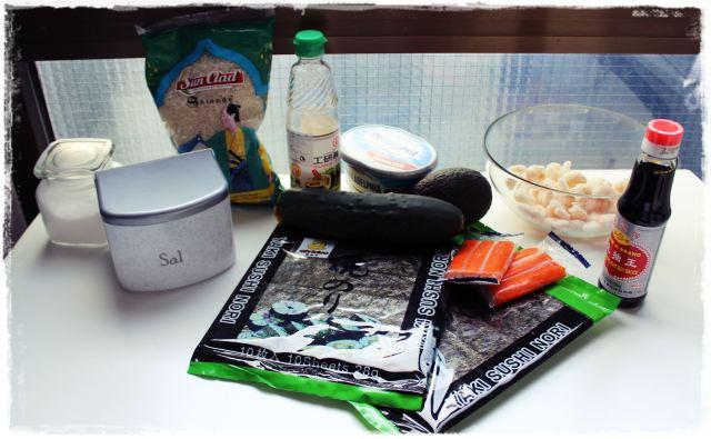 Hacer sushi en casa - INGREDIENTES
