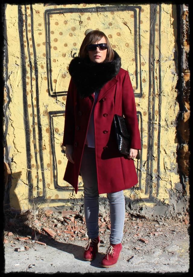 Abrigo burgundy 1