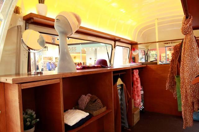Artea Fashion truck interior